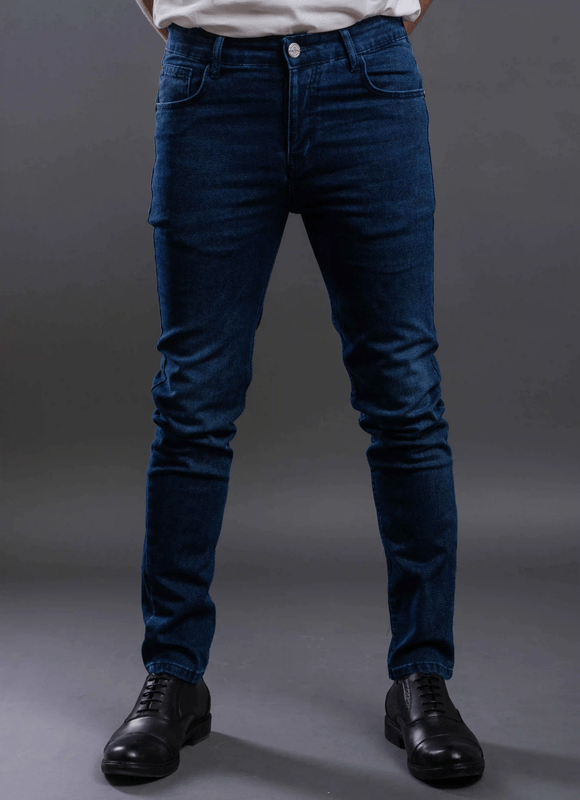 Washed slim fitted jeans-Dark wash - Dockland