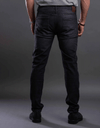 Washed slim fitted jeans-Light Gery - Dockland