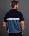 Classic Fit Knitted Polo Shirt-Navy Blue