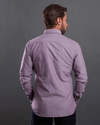 Plain long sleeve Oxford shirt-Wine