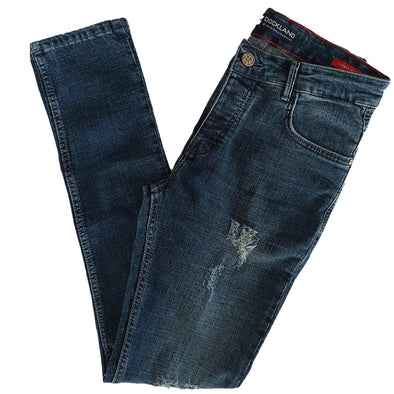 Slim Fit Fashionable Cotton Jeans - Dark Blue Jeans - Dockland