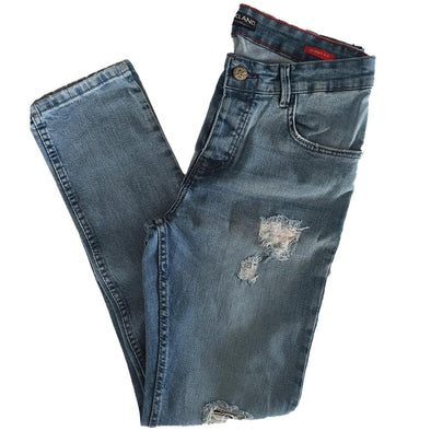 Slim Fit Fashionable Cotton Jeans - Blue Jeans - Dockland