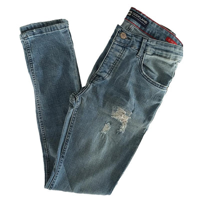 Slim Fit Fashionable Cotton Jeans - ligh Blue Jeans - Dockland
