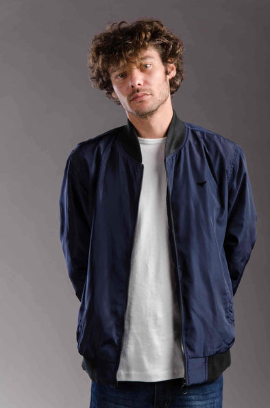 lightweight Bomber waterproof jacket-Navy - Dockland