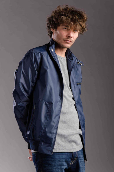 lightweight waterproof jacket-Navy - Dockland
