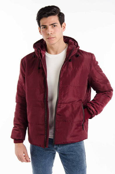 lightweight Bomber waterproof jacket-Wine - Dockland