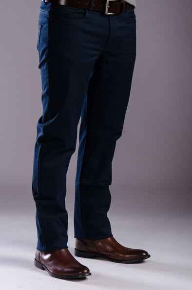 5-pocket Gabardine-Navy - Dockland