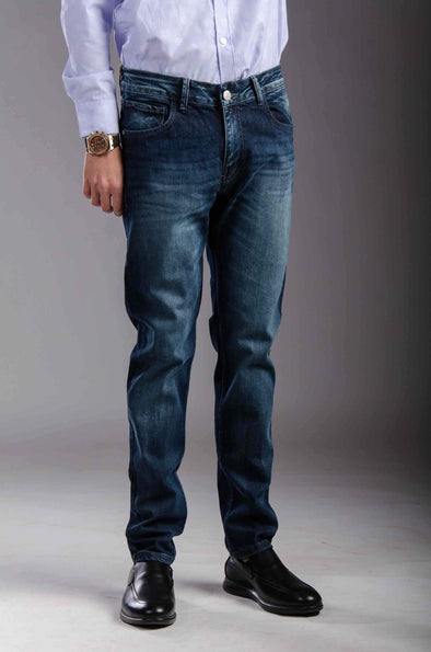 Slim straight-fit jeans-Medium wash - Dockland