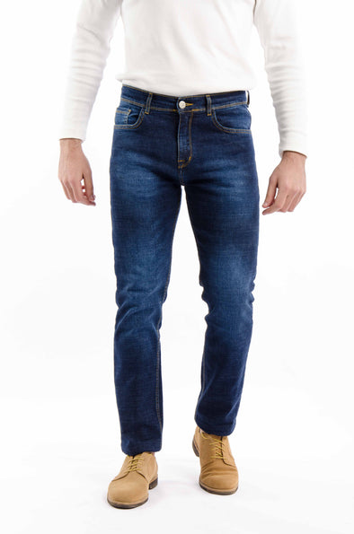 Washed slim fit jeans-Dark Wash - Dockland