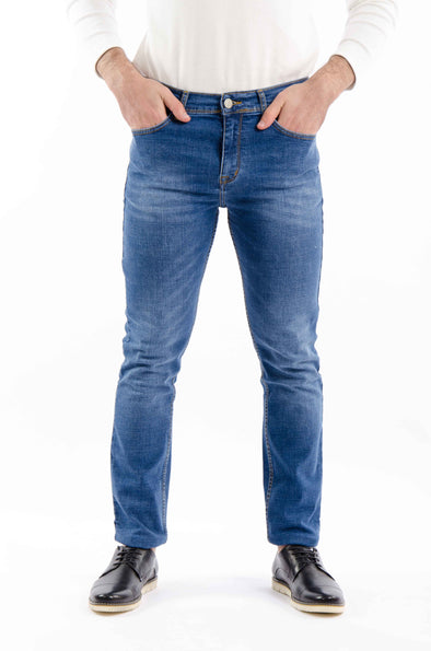 Washed slim fit jeans-Light Wash - Dockland