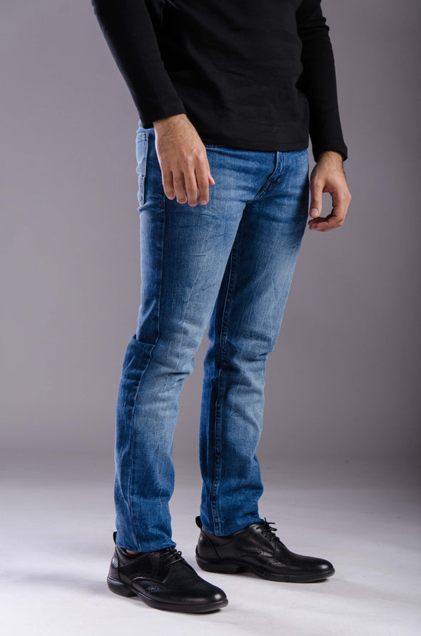 Slim fitted jeans-Medium wash - Dockland
