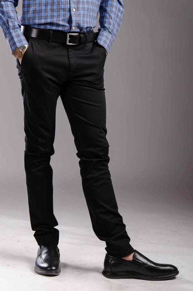 Chinos Zip fly-Black - Dockland
