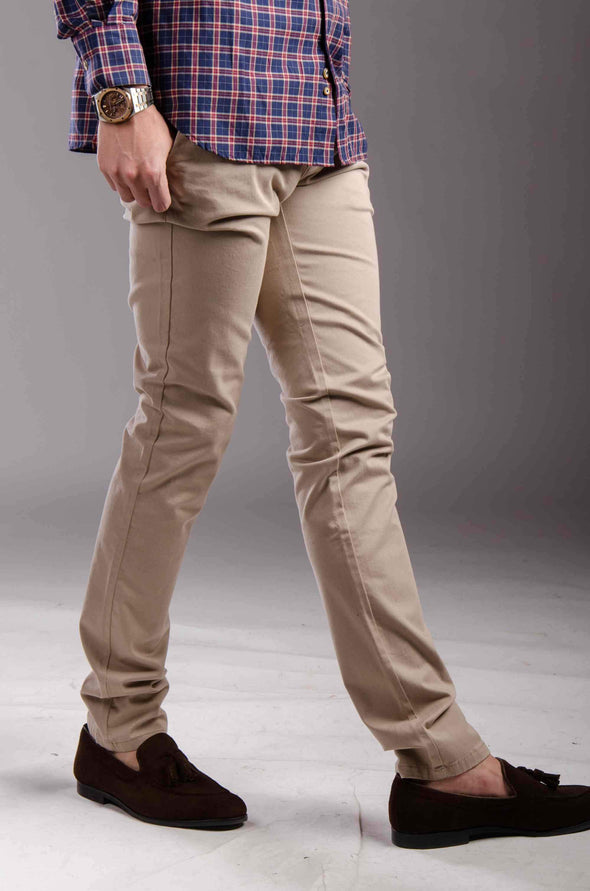 Chinos Zip fly-Light Bige - Dockland