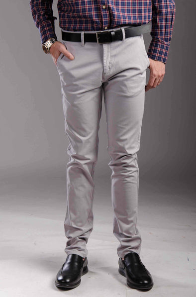 Chinos Zip fly-Silver - Dockland