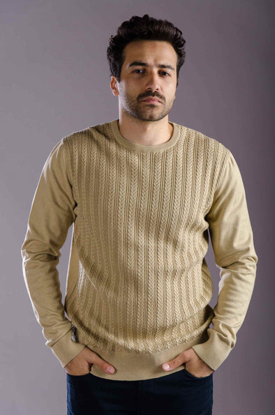 Classic-fit Knit Sweater-Beige - Dockland