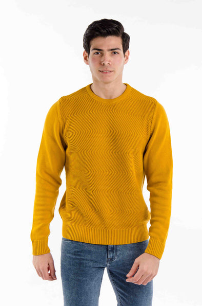 Fine Cotton Knitted Sweater-Camel