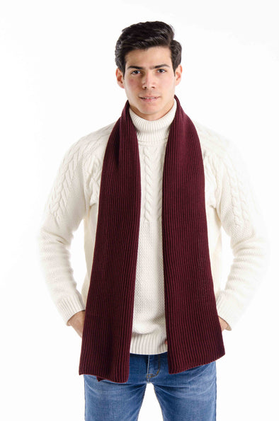 BASIC KNIT SCARF-Wine - Dockland