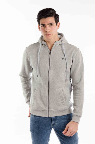 Plain Full Zipper Hoodie-chanee - Dockland