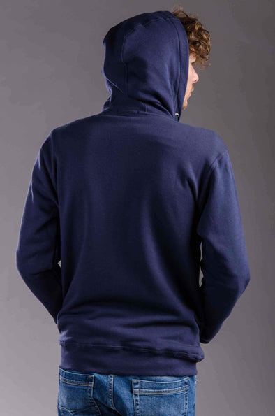 Plain Full Zipper Hoodie-Navy - Dockland