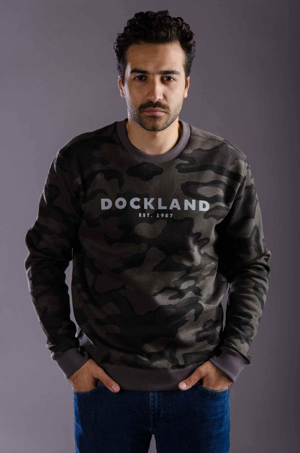 """Military"" round-neck sweatshirts-Grey - Dockland"