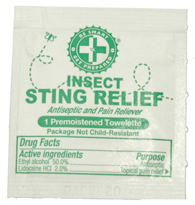 100 Sting Relief Prep Pads