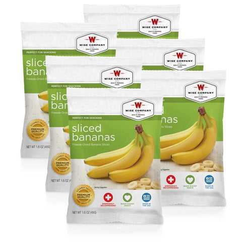 6 Pack Sliced Bananas