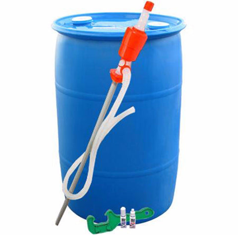 Emergency Water Storage Kit 55 Gallons Barrel Purified Container