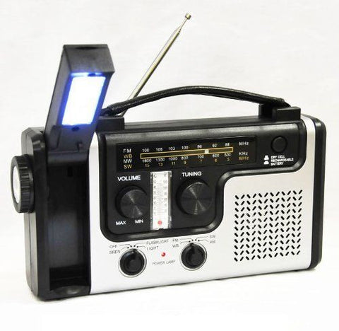 Emergency Solar Hand Crank Dynamo AM/FM/NOAA Weather Radio with Flashlight