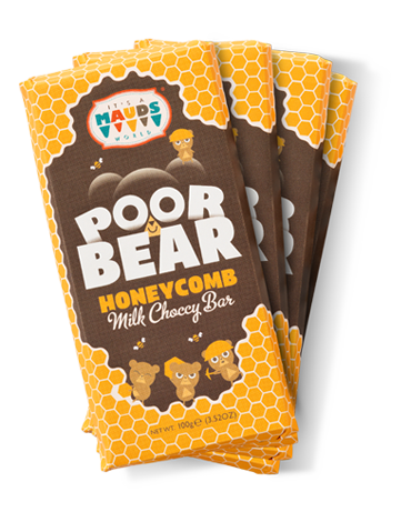 POOR BEAR CHOCOLATE BAR - 4 BAR GIFT PACK