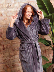 Ladies Luxury Plush Shimmer Fleece Robe - Slumber Hut