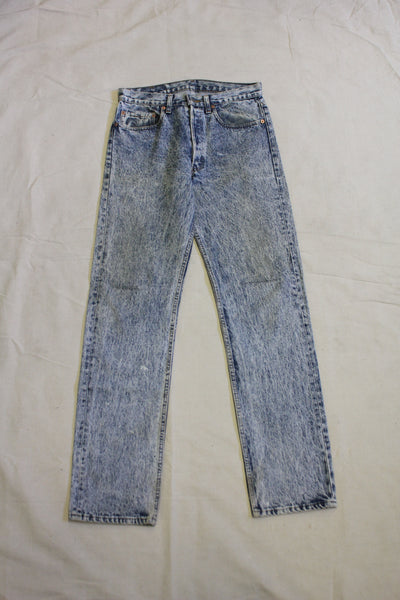 Vintage 1980's Acid Wash Levis 501s Denim Jeans - La Lovely Vintage