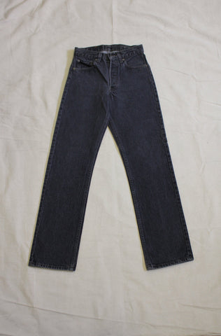 Vintage 1980's Levis 501s Black Denim Jeans - La Lovely Vintage
