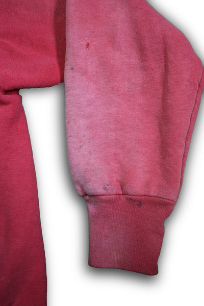Vintage 1950/1960's Faded Red Thermal Zip-up Hooded Sweatshirt