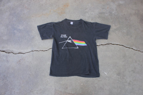 "Authentic Vintage Pink Floyd  1987 ""Dark Side Of The Moon"" Tour Shirt - La Lovely Vintage"