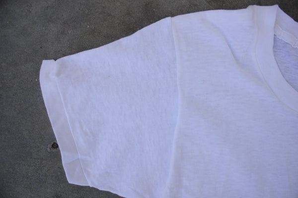 Vintage 'Wash n' Wear' Deadstock Blank White T-Shirt - La Lovely Vintage