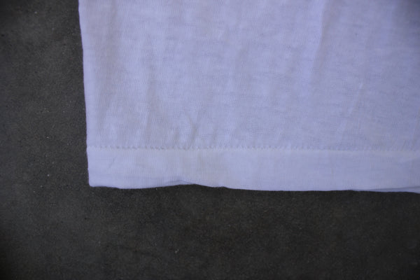 Vintage 'Wash n' Wear' Deadstock Blank White T Shirt - La Lovely Vintage