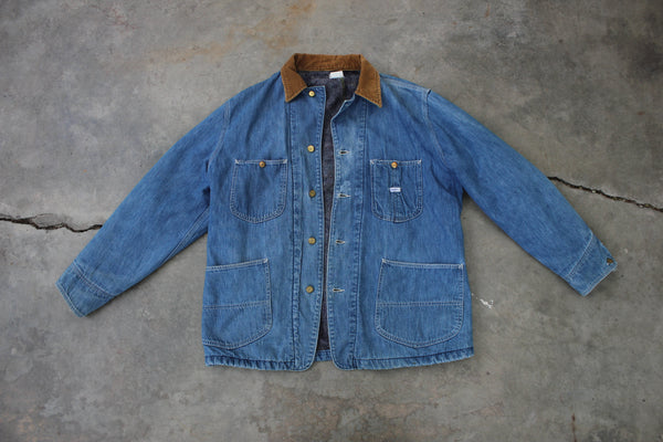 Vintage 1970's Lee Denim Lined Chore Coat - La Lovely Vintage