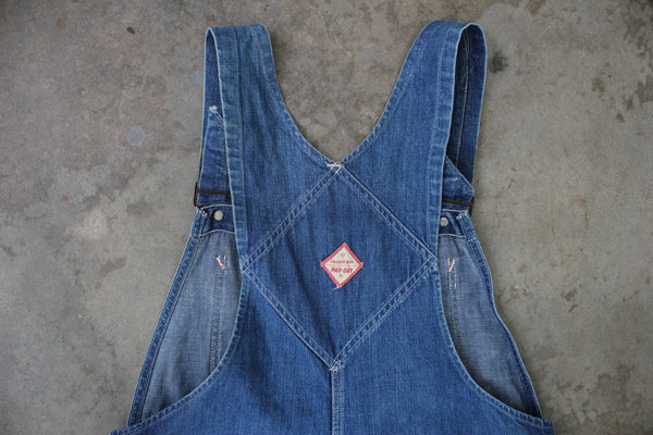 Vintage 1950's Penney's Pay Day Square Bak Overalls - La Lovely Vintage