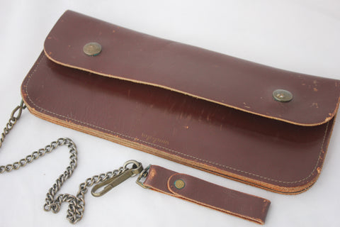 Vintage 1940's Lee Top Grain Trucker Wallet w/ Chain - La Lovely Vintage
