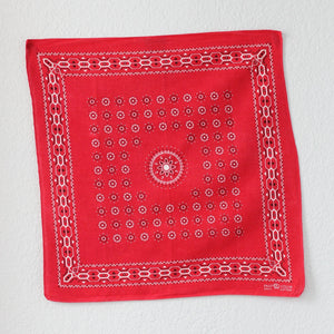 Vintage Single Selvedge Red Trunk Up Elephant Brand  Bandana - La Lovely Vintage