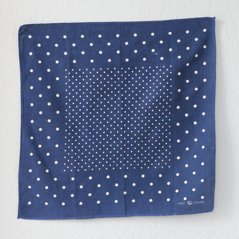 Vintage 40's/50's Single Selvedge Elephant Brand Trunk Down Dot Bandana - La Lovely Vintage