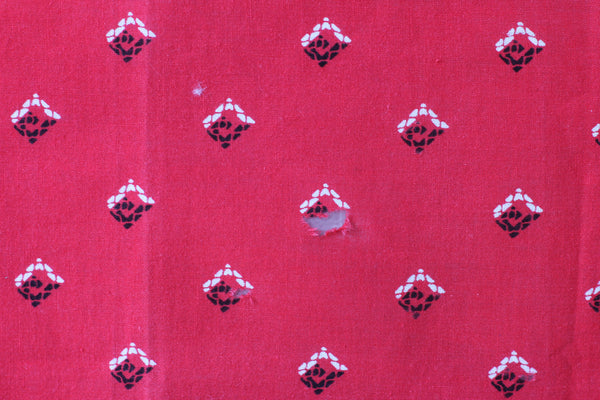 Vintage Single Selvedge Red Tuside Bandana - La Lovely Vintage