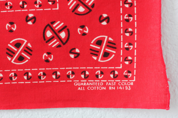 Vintage Single Selvedge Fast Color Bandana RN#14193 - La Lovely Vintage