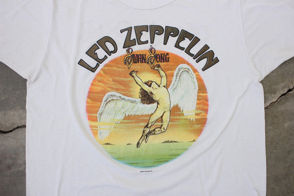 "Vintage Led Zeppelin ""Swan Song"" T Shirt - La Lovely Vintage"