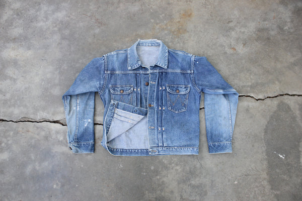 Vintage 1950s Wrangler Blue Bell 111MJ Selvedge Denim Jacket - La Lovely Vintage