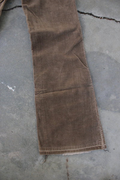Vintage 1970's Levi's Big E Corduroy Pants - Light Brown - La Lovely Vintage