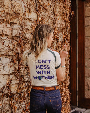 Camp Collection 'Don't Mess With Mother' T Shirt - La Lovely Vintage