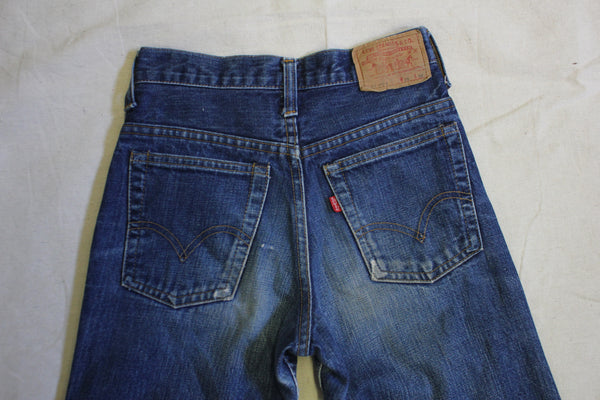Vintage 1970's Levis 717s Hand Painted Denim Jeans - La Lovely Vintage