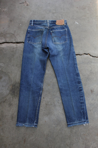 "Vintage 1960s Levi's ""Big E"" 501 Denim Jeans - La Lovely Vintage"