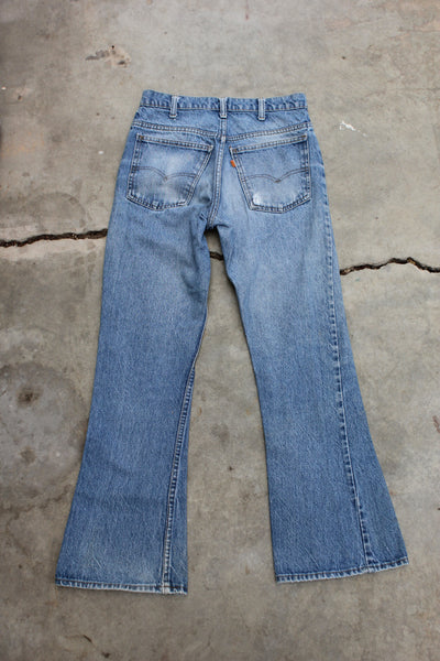 Vintage 1970's Levis 646 Flared Denim Jeans - La Lovely Vintage